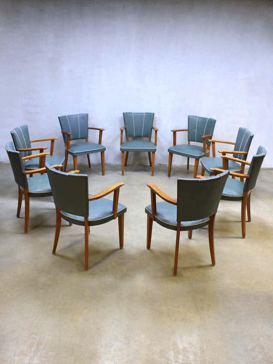 Comfortabele Eetkamer Armstoelen.Fifties Vintage Design Eetkamer Stoelen Vintage Retro Dinner Chairs