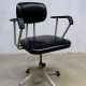 Vintage Okamura industrial desk chair, bureaustoel industrieel