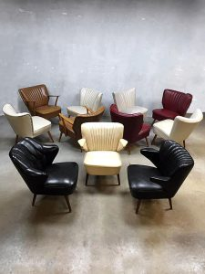 Vintage mid century fifties cocktail chairs