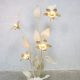 Mid century brass flowerlamp Hollywood regency Dubai style