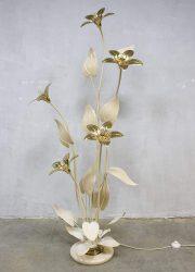 Mid century brass flowerlamp Hollywood regency Dubai style