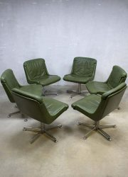 Midcentury design lounge chair office chair, Vintage bureaustoel