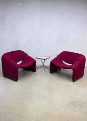 Vintage Artifort Groovy chair, Pierre Paulin fauteuil