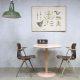 Vintage design eetkamertafel, vintage pink dining table bistro tables