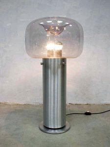 Mid century vintage design vloerlamp Limburg glashütte floorlamp