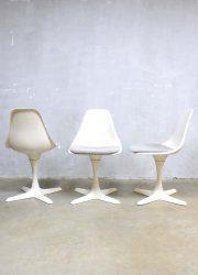 vintage design tulip dining chairs Arkana Maurice Burke, vintage eetkamerstoelen Arkana