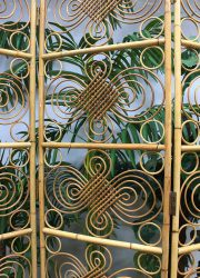 Vintage bamboo dividing screen, rotan kamerscherm