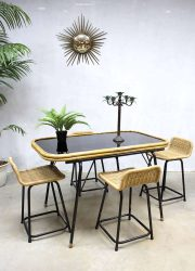 vintage design eetkamertafel dinner table
