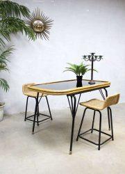 eetkamertafel dining table vintage design Dirk van Sliedrecht