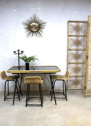 vintage design eetkamer tafel industrieel