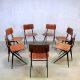 Vintage Industrial Marko school chairs, industriële schoolstoelen Marko