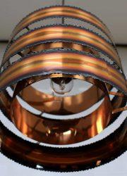 Brutalist vintage copper pendant lamp by Holm-Sørensen
