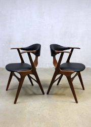 vintage eetkamer stoel Louis van Teeffelen chairs Danish style