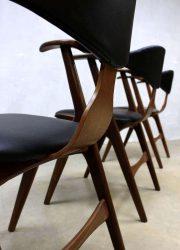Midcentury design cowhorn chair koehoorn stoel