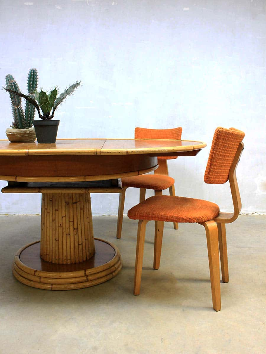 Eclectic midcentury design bamboo table vintage design bamboe tafel - Design eetkamer ...