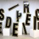 Vintage industrial metal letters, authentieke metalen letters