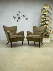 Mid century design wingback chairs lounge chairs Theo Ruth Artifort