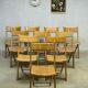 vintage houten klapstoelen / wooden folding chairs