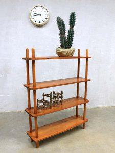 Vintage stokkenkast mid century Dutch design cabinet W. Lutjens Den Boer Gouda