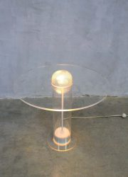 space age transparant plexiglas table lamp seventies tafellamp ufo design