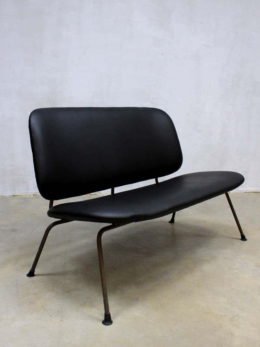 Gispen Leren Bank.Industriele Vintage Design Bank Sofa Kembo Gispen