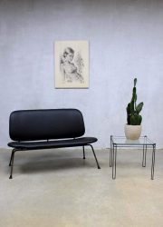 Industriële vintage design bank sofa Kembo Gispen