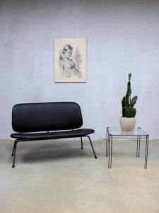 Industriële vintage design bank sofa Kembo Gispen