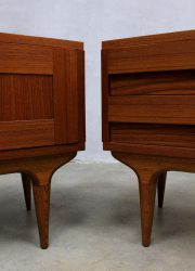 Mid century design night stands cabinet Danish, Vintage Deens nachtkastjes