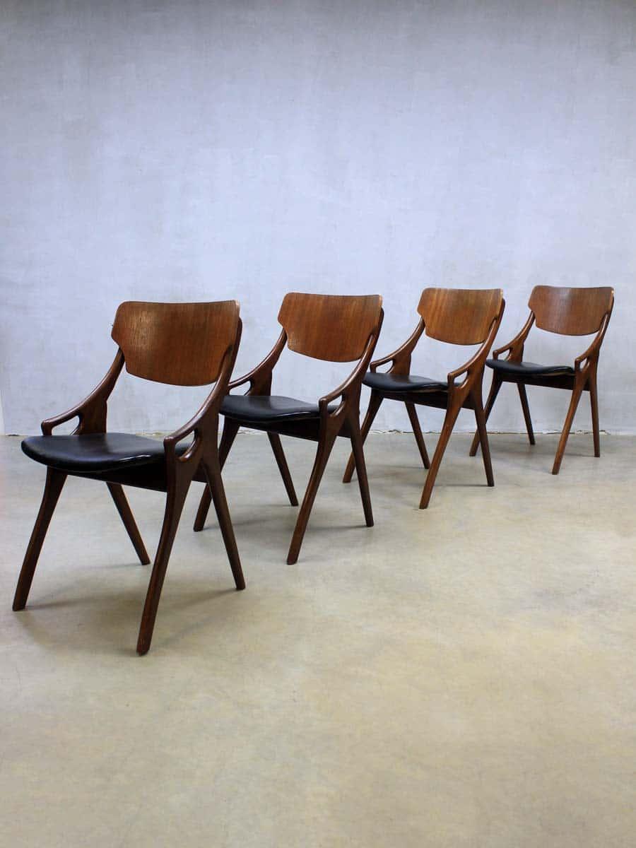 Vintage stoelen hovmand olsen danish vintage dinner for Vintage stoelen