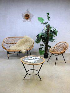 Vintage design rotan lounge bank sofa Rohe Noordwolde