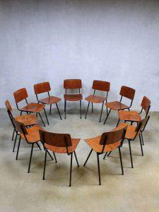 Marko vintage schoolstoelen industrieel, Marko vintage Industrial schoolchairs