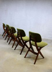 Webe vintage design eetkamer stoelen Louis van Teeffelen dining chairs