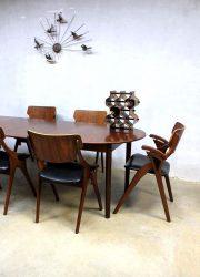 Deense vintage eetkame rtafel, vintage Danish dining table