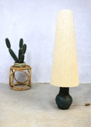 Vintage design vloerlamp 'nature', vintage design ceramic floorlamp 'nature'
