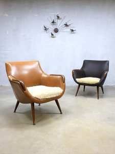 Danish vintage design lounge chairs armchairs