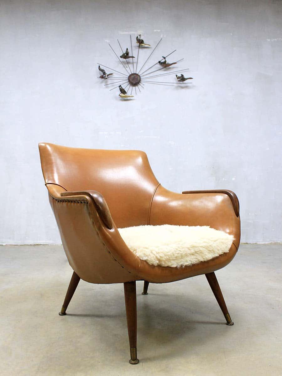 Goede Vintage lounge fauteuils, Mid century design easy chair AD-12