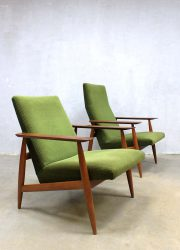 Danish lounge chairs vintage design fauteuil armchairs