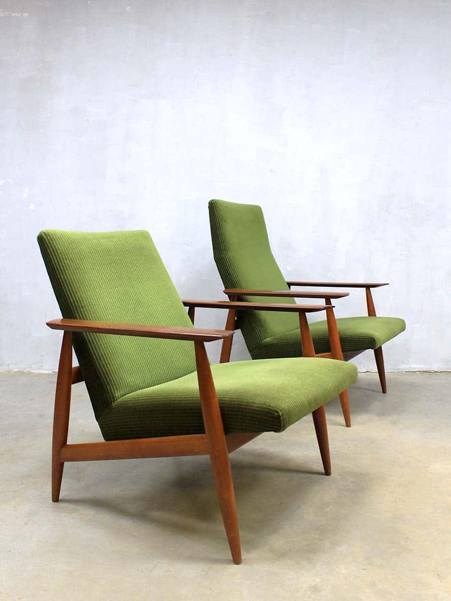 Fonkelnieuw Danish lounge chairs vintage design fauteuil armchairs IT-56