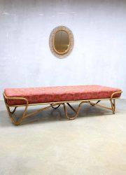 Vintage design rotan bed daybed rattan sofa Rohe Noordwolde