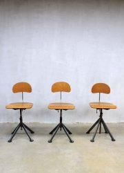 Vintage kruk barkrukken industrieel, Industrial vintage bar stool