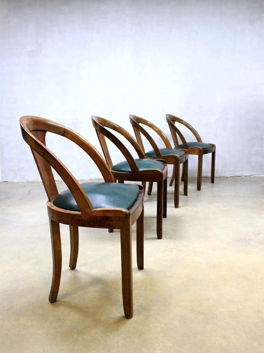 Mid Century Art Deco Dinner Chairs Art Deco Eetkamerstoelen