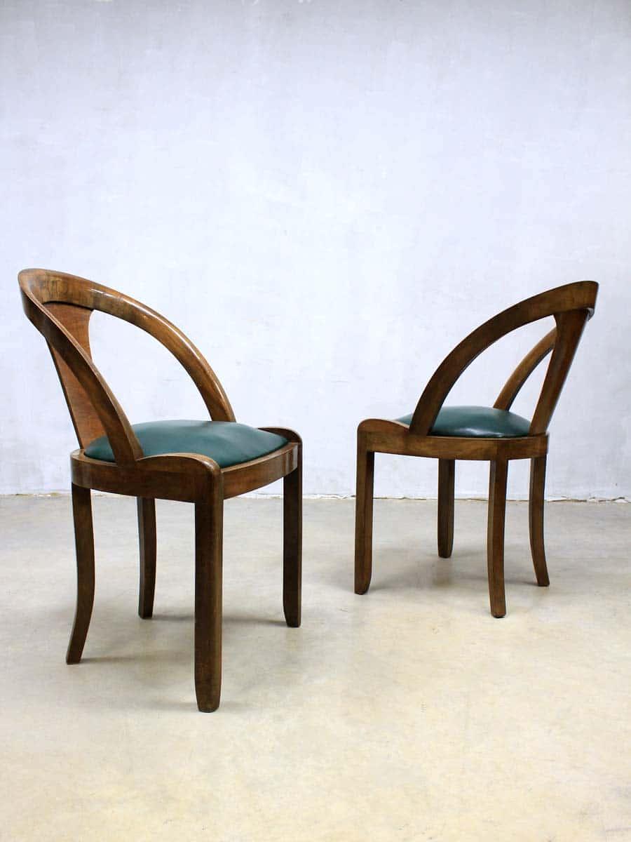 Mid century art deco dinner chairs art deco eetkamerstoelen - Deco design eetkamer ...