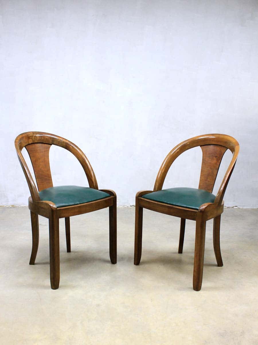 Mid century art deco dinner chairs art deco eetkamerstoelen - Deco loungeeetkamer ...