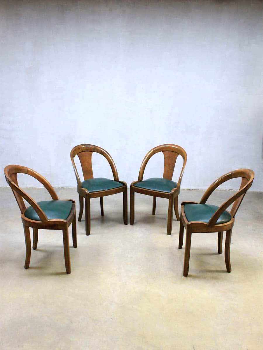 mid century art deco dinner chairs art deco eetkamerstoelen. Black Bedroom Furniture Sets. Home Design Ideas