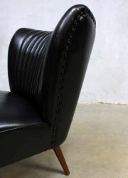 Vintage skai leren cocktail stoel, vintage cocktail chair