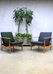 Mid century Danish vintage lounge chairs easy chairs
