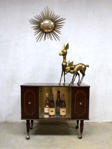 Mid century liquor cabinet, vintage drankenkast 'glamour'