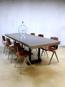 Mid century Gispen office table, Vintage Gispen vergadertafel