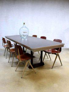 Mid century Gispen office table, Vintage Gispen vergadertafel