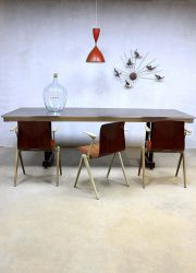 Mid century vintage design table Gispen, vintage Dutch design tafel Gispen